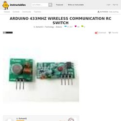 Arduino 433Mhz Wireless Communication Rc Switch: 8 Steps