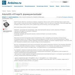 IDE и ATmega16, формируем bootloader