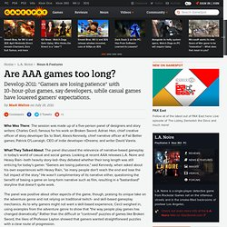Are AAA games too long? - News at GameSpot