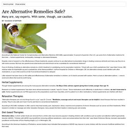 Are Alternative Remedies Safe?