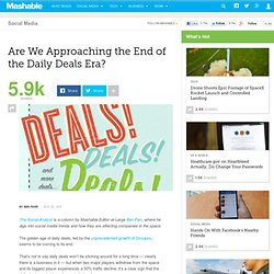 Are We Approaching the End of the Daily Deals Era?