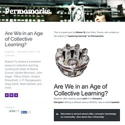 Are We in an An Age of Collective Learning?