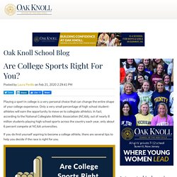 Are College Sports Right For You?