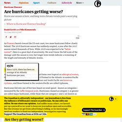 *****Are hurricanes getting worse?