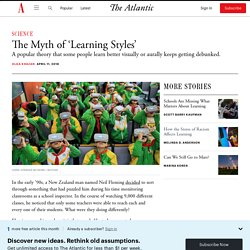 Are 'Learning Styles' Real?