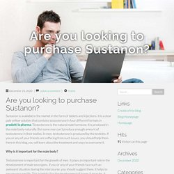 Are you looking to purchase Sustanon?