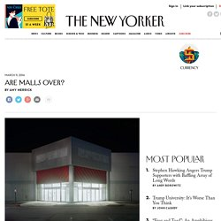 Are Malls Over?