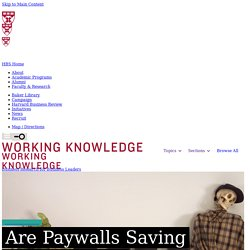 Are Paywalls Saving Newspapers?