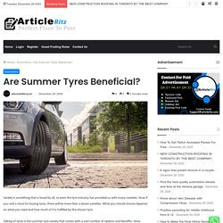 Are Summer Tyres Beneficial?