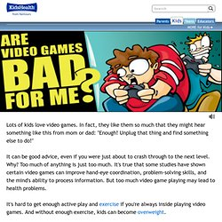 Are Video Games Bad for Me?