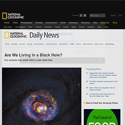 Are We Living in a Black Hole?