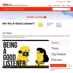Are You A Good Listener?