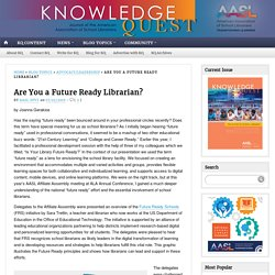Future Ready Librarians infographic