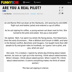 ARE YOU A REAL PILOT? from Joe Burton