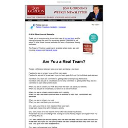 Are You a Real Team?