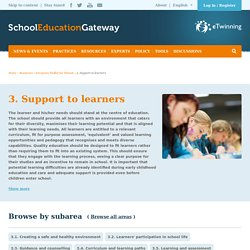 about supports to learners...(site européen - pour l'école)