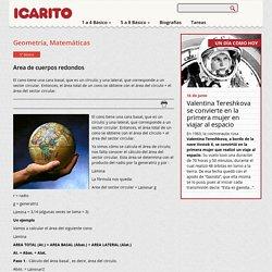 Area de cuerpos redondos Icarito