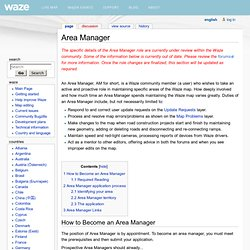 Area Manager - waze