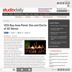 Studio Daily Blog » VES Bay Area Panel: Dos and Don'ts of 3D Stereo