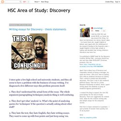 HSC Area of Study: Discovery: June 2015