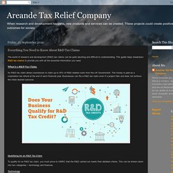 Areande Tax Relief Company: Everything You Need to Know About R&D Tax Claims
