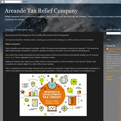 Areande Tax Relief Company: Research and Development Tax Credits/Research and Development
