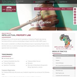 A.A.Tejuoso & Co - A full service law firm specializing in Intellectual Property law