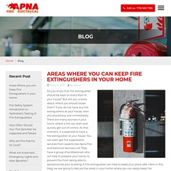 Areas Where you can Keep Fire Extinguishers in your Home