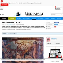 AREVA devient ORANO.