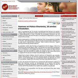 Femmes en Poitou-Charentes, 25 années d'évolution
