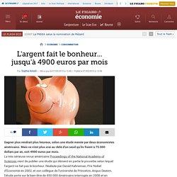 L'argent fait le bonheur... jusqu'à 4900 euros par mois