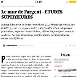 Le mur de l'argent - ETUDES SUPERIEURES - 4 juin 2012