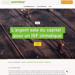 L'ARGENT SALE DU CAPITAL : POUR UN ISF CLIMATIQUE
