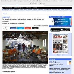 Incendie : la défaillance d'un équipement électrique détruit un temple à Argenteuil
