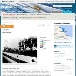 Información sobre La Inmigracion a la Argentina