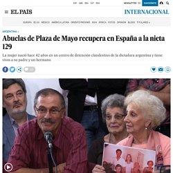 Argentina: Abuelas de Plaza de Mayo recupera en España a la nieta 129