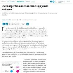 Dieta argentina: menos carne roja y más azúcares - 27.09.2016 - LA NACION