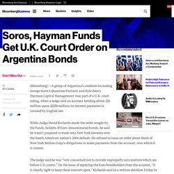 Soros, Hayman Funds Get U.K. Court Order on Argentina Bonds