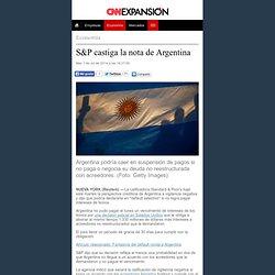 S&P 'castiga' la nota de Argentina - Economía
