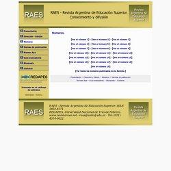 RAES - Revista Argentina de Educación Superior.
