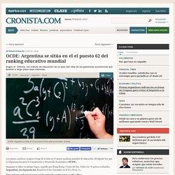 OCDE: Argentina se sitúa en el el puesto 62 del ranking educativo mundial