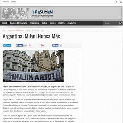 Argentina: Milani Nunca Más