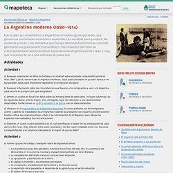 Mapoteca: La Argentina moderna (1880-1914)