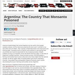 Argentina: The Country That Monsanto Poisoned