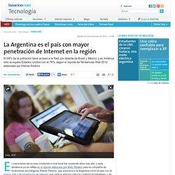 La Argentina es el país con mayor penetración de Internet en la región - lanacion.com