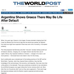 Argentina Shows Greece There May Be Life After Default