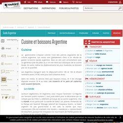 Argentine : Cuisine et boissons