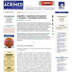 Argentine : l'expérience d'un journal « récupéré » et autogéré (entretien)