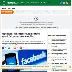 Argentine : sur Facebook, le meurtrier s'était fait passer pour une fille