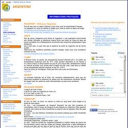 ARGENTINE - Informations pratiques